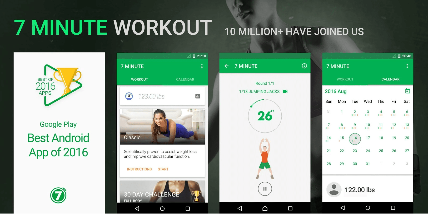 7 Minute Workout -Top 10 Best Workout Apps For Android – Download Now