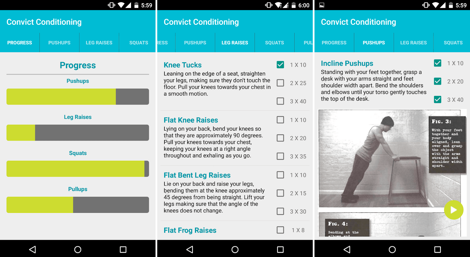 Convict Conditioning -Top 10 Best Workout Apps For Android – Download Now