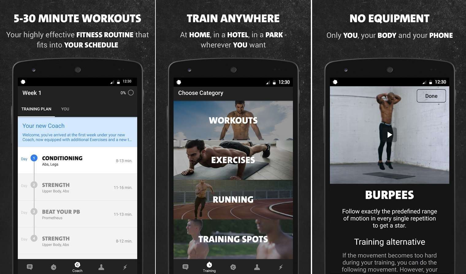 Freeletics Bodyweight - Top 10 Best Workout Apps For Android – 2018 Download Now
