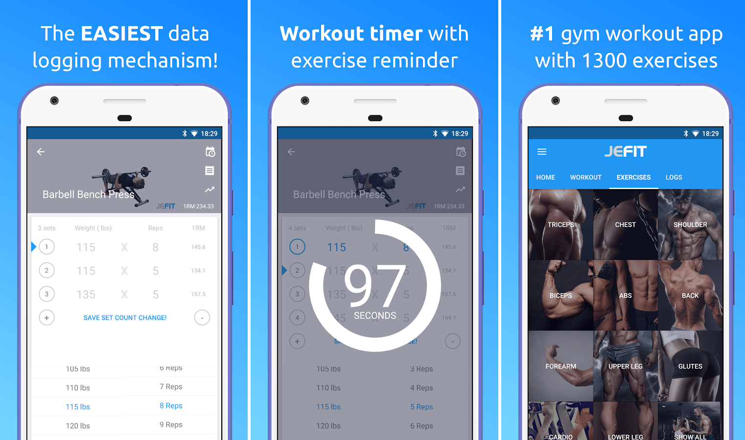 best gym apps for android