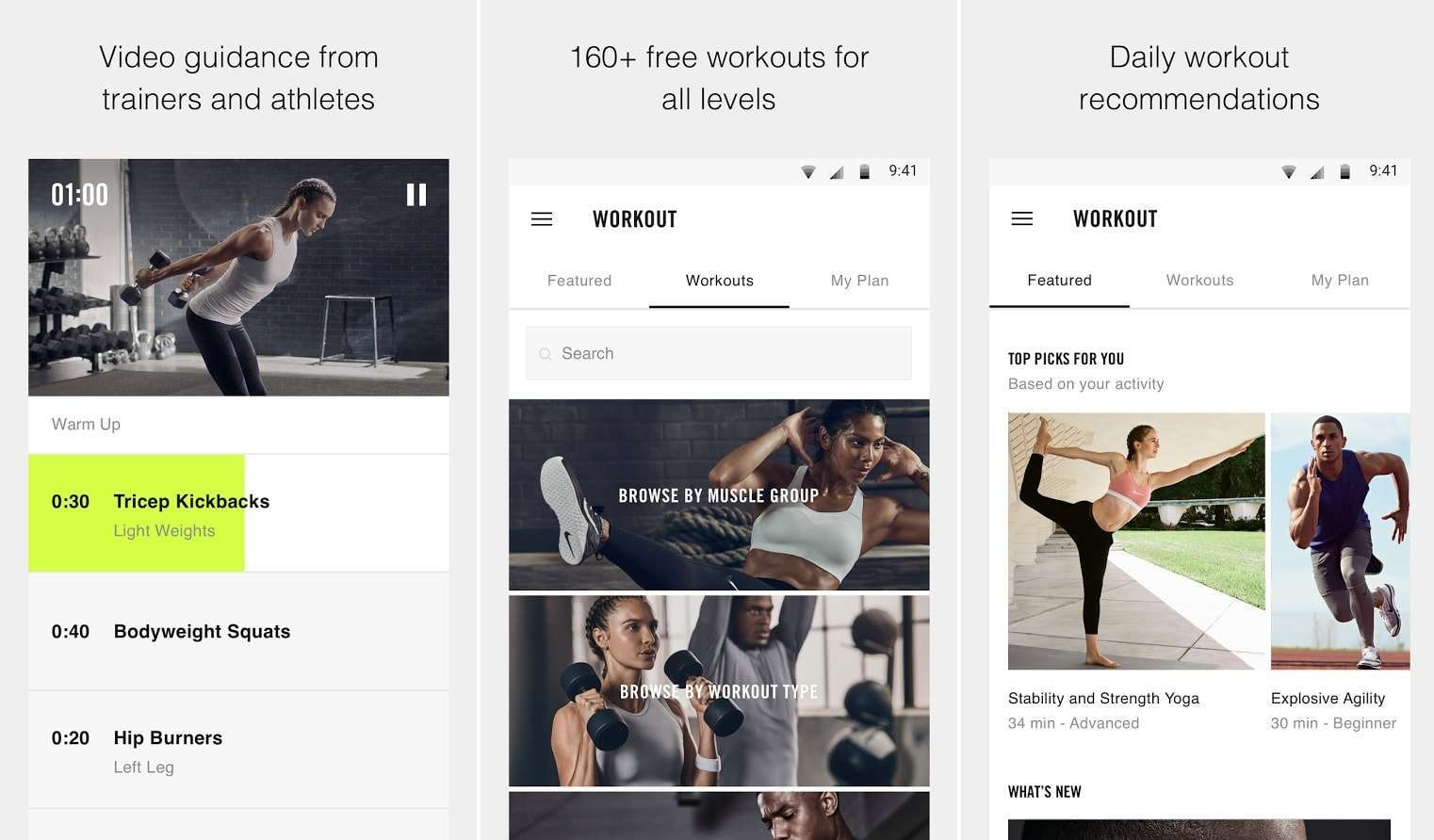 f8e247c1c0742 Freeletics Bodyweight - Top 10 Best Workout Apps For Android – 2018 Download  Now Nike Training Club ...