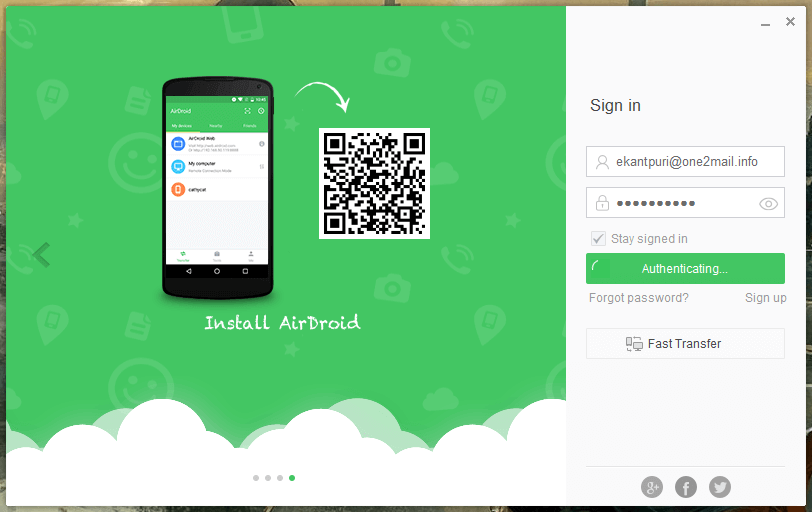signup login to AirDroid on both the devices from the same account which is your Android phone & your PC - How to Remotely Access the Android Phone From PC