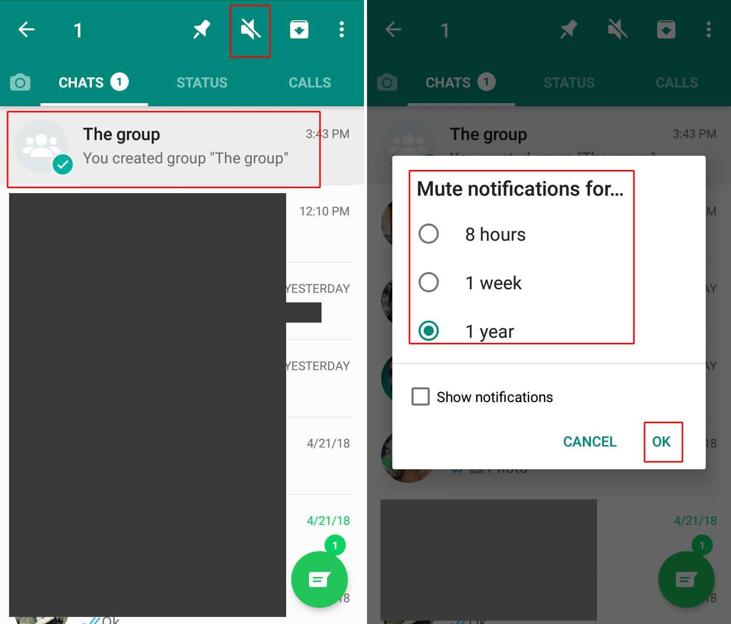 How to Mute WhatsApp Group on Android Phone - To mute several WhatsApp groups, tap and hold the group and click the speaker icon