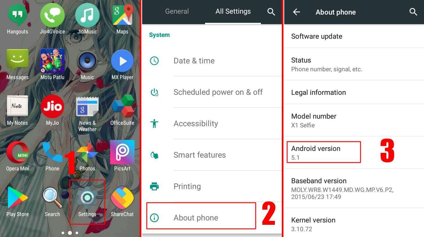you will see the Android version which your Android phone is having - How to Check Android Version on Phone