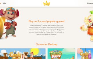 King.com - Top Best Websites to Play Games Online