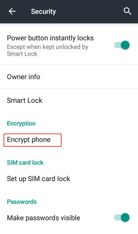 Click on Encryption - How to Encrypt Your Android Phone