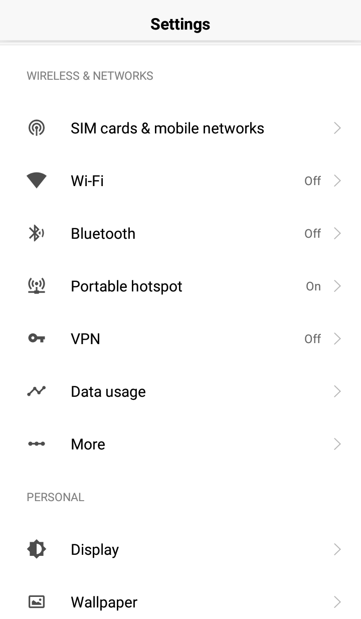 Click on VPN - How to Setup a VPN on Android