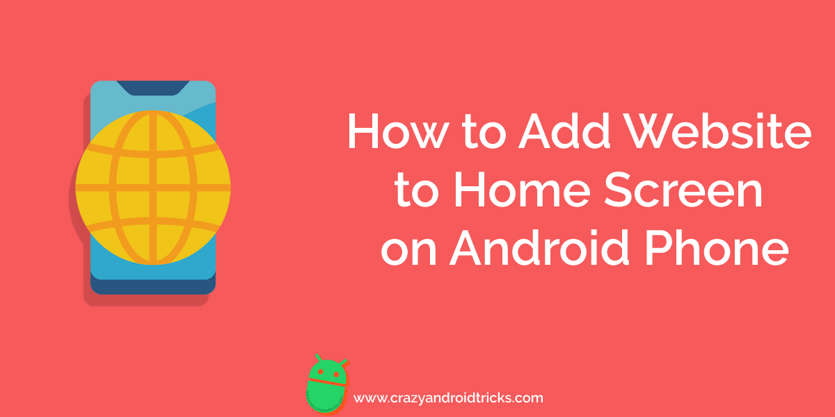 How to Add Website to Home Screen on Android Phone